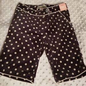 Girls 7 GYMBOREE VELVET HOLIDAY SHORTS NWT